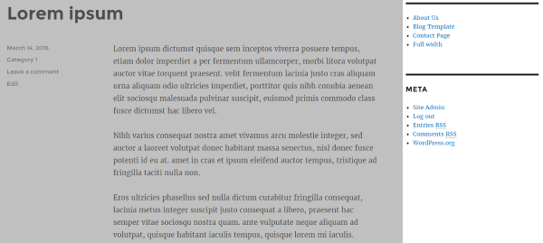 thesis theme sidebar images