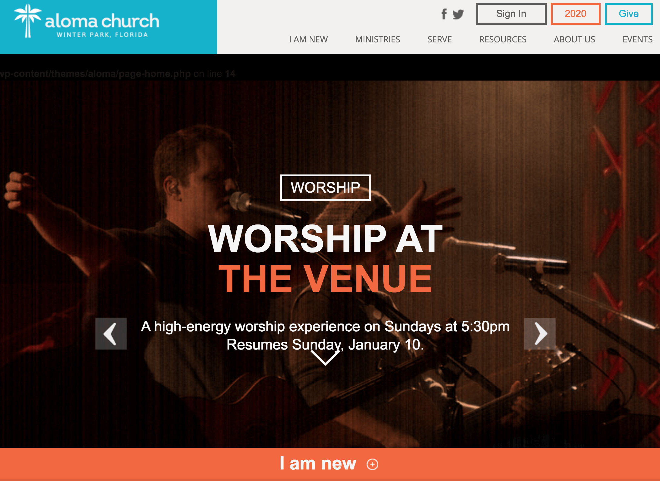 aloma church homepage - Church Website Design Ideas