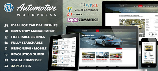 A screenshot of the official Automotive Card Dealership header.
