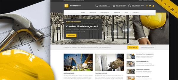 A screenshot of the official BuildPress header.