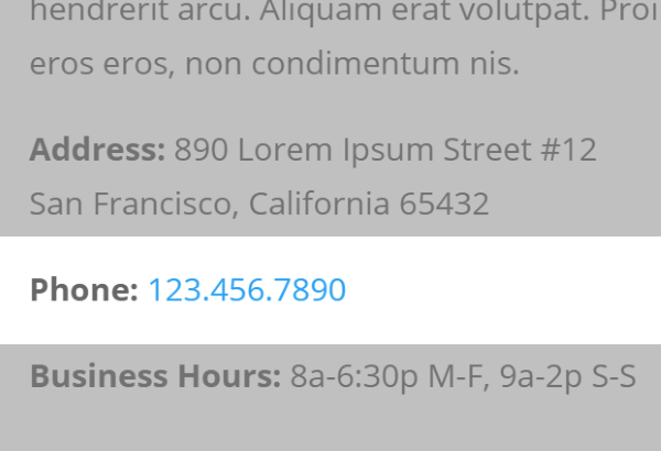 address by telephone number