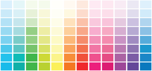 A color palette.