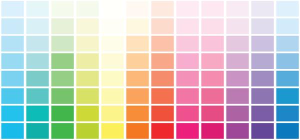 A color palette.