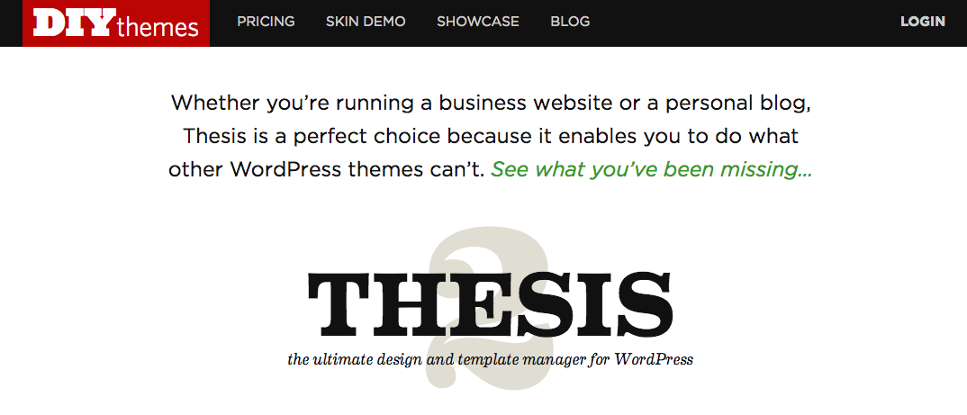 Thesis from DIY Themes