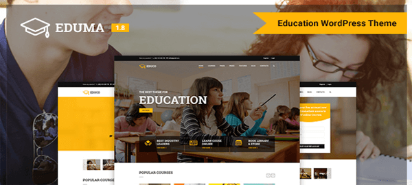 A screenshot of the official Education theme header.