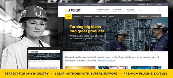 A screenshot of the official Factory header.