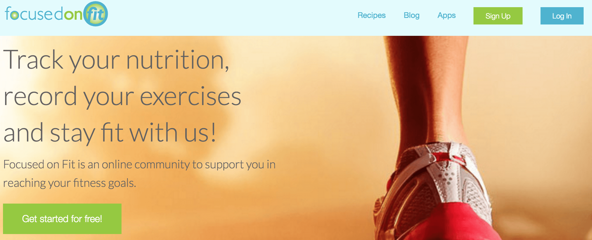 The Focused On Fit homepage.