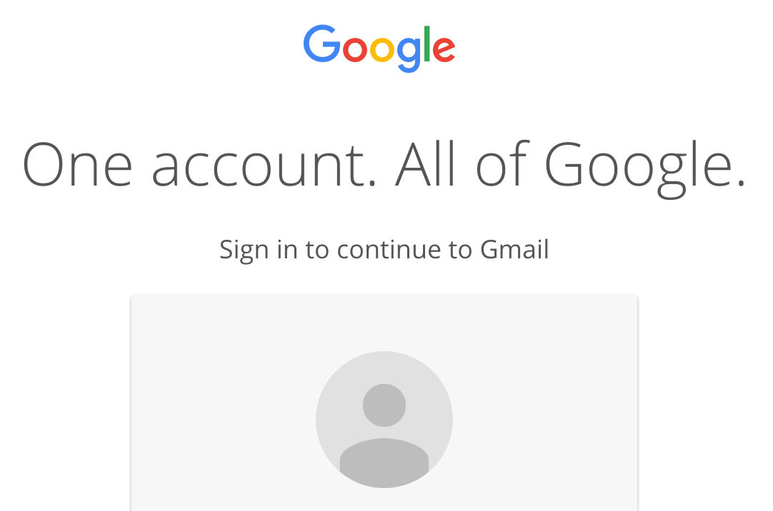 A screenshot of the Gmail homepage.