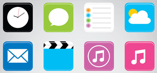 A collection of iOS icons.