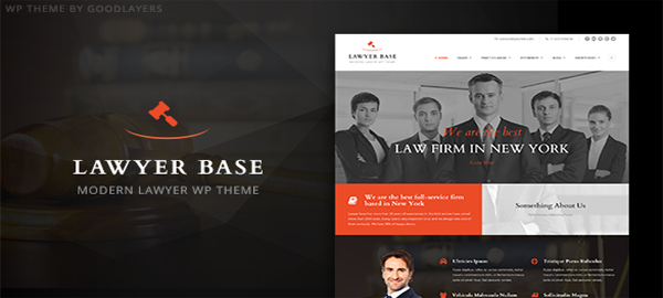 A screenshot of the official Lawyer Base header.
