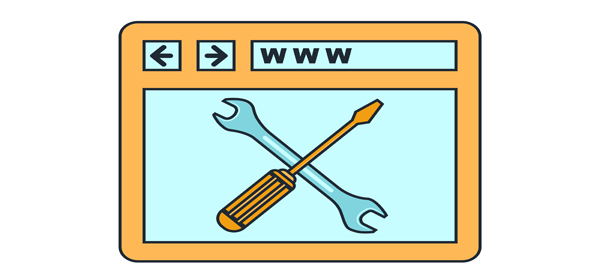 Tools in the middle of a browser.