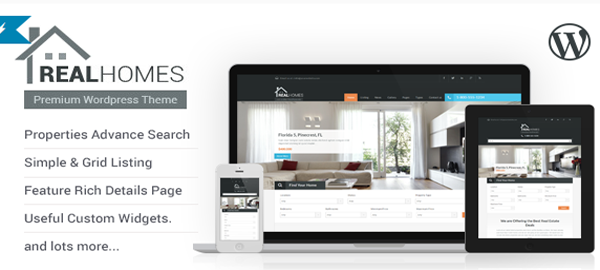 A screenshot of the official Real Homes header.