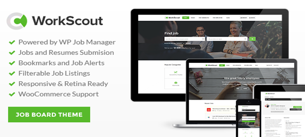 A screenshot of the official WorkScout header.