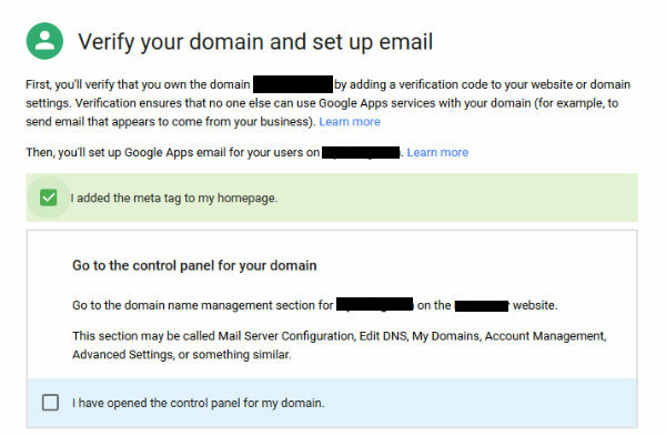 how to open my domain