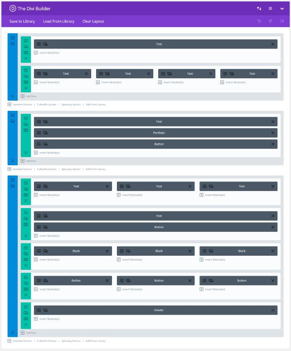 Divi layout