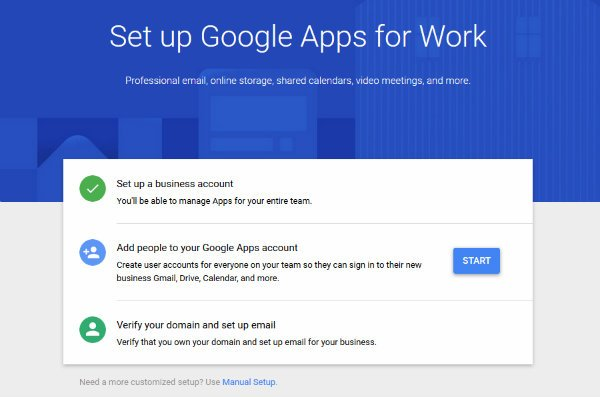 Google Apps for Work Screne