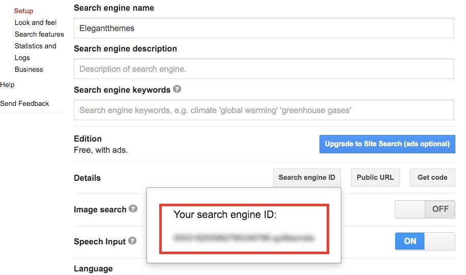 Google CSE ID