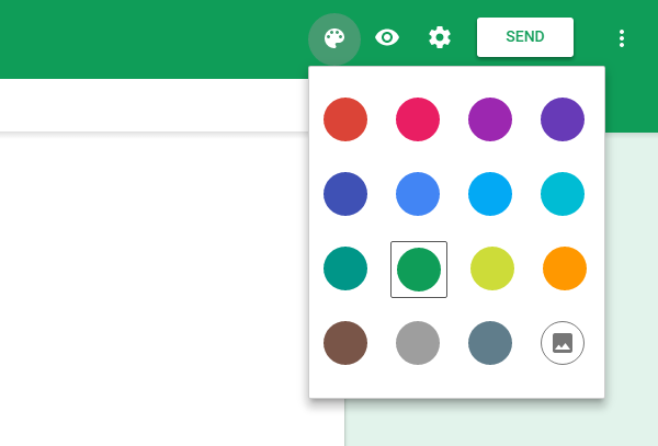 Google Forms Colors