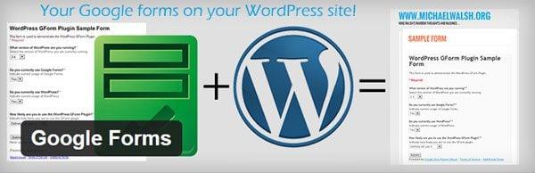 Google Forms WordPress Plugin