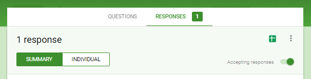 Google Forms Responses