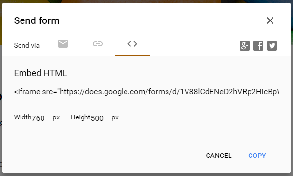 Google Forms Send Form