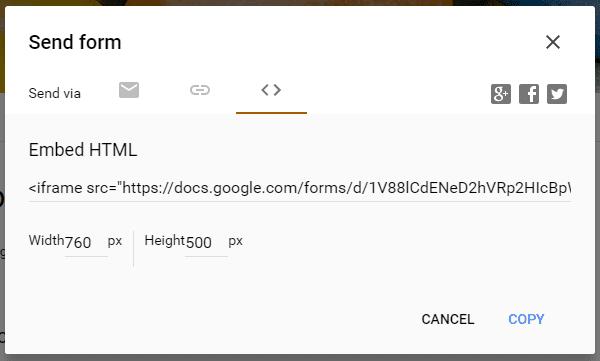 Google Forms Send Form