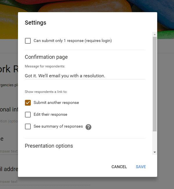 Configure your Google Form
