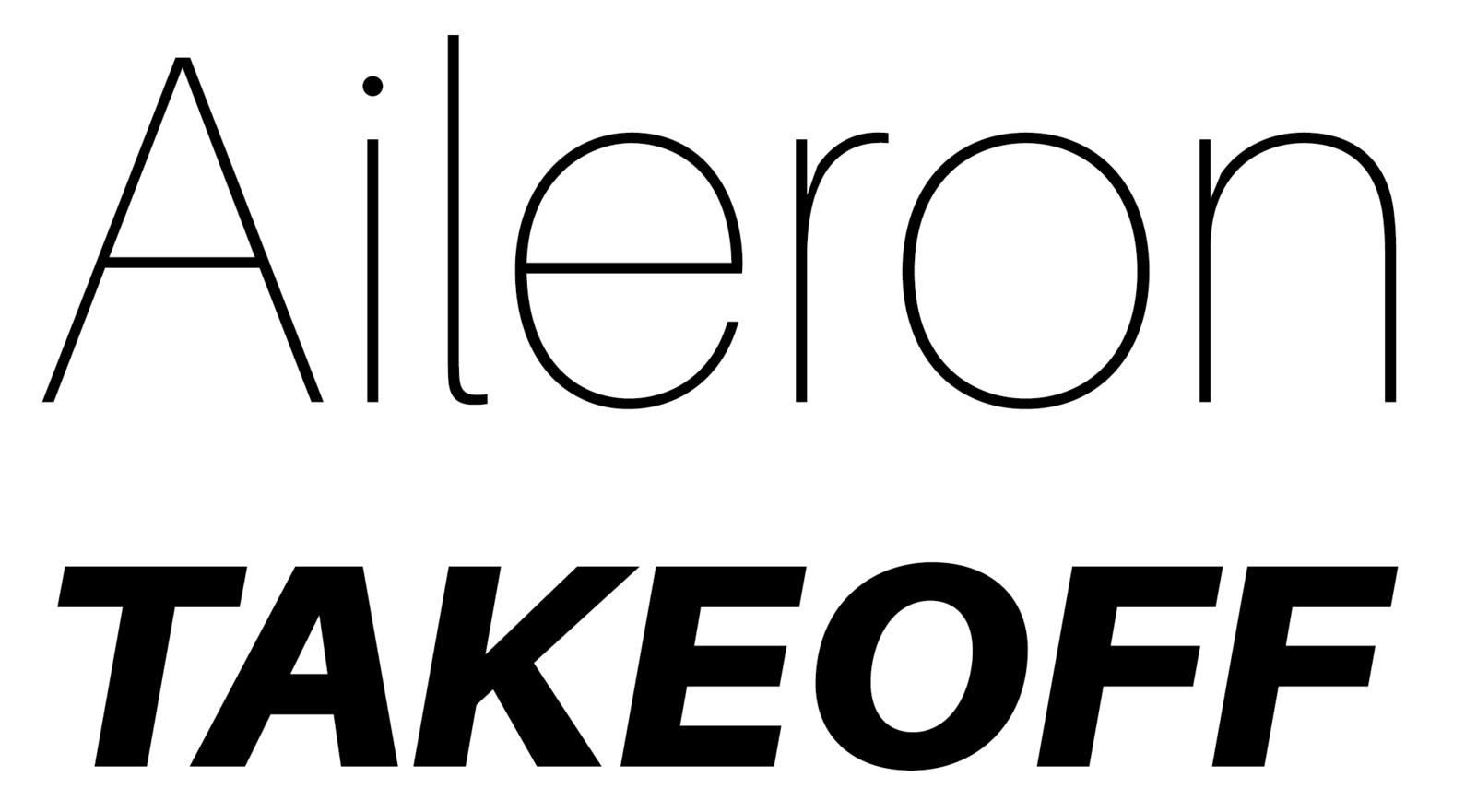 Example of the Aileron font.
