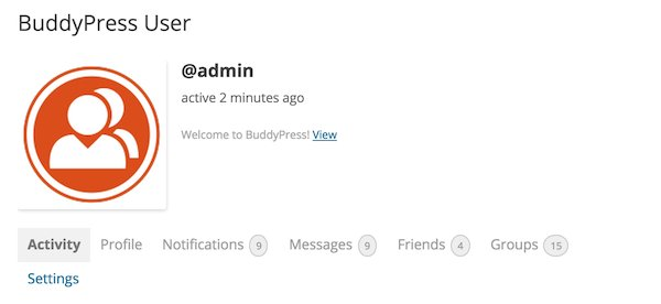 buddypress-user-profile