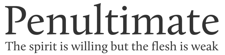Example of the Calluna font.