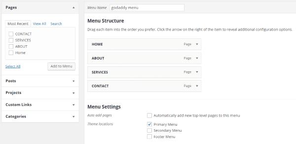creating menus