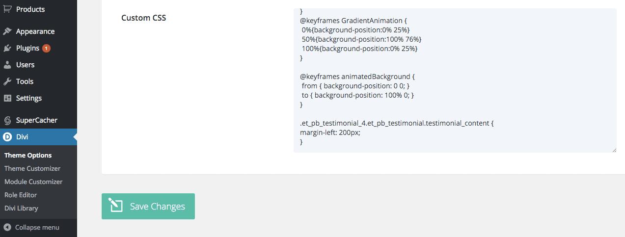Divi ePanel Custom CSS