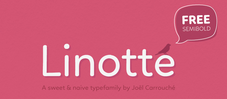 Screenshot of the Linotte header.