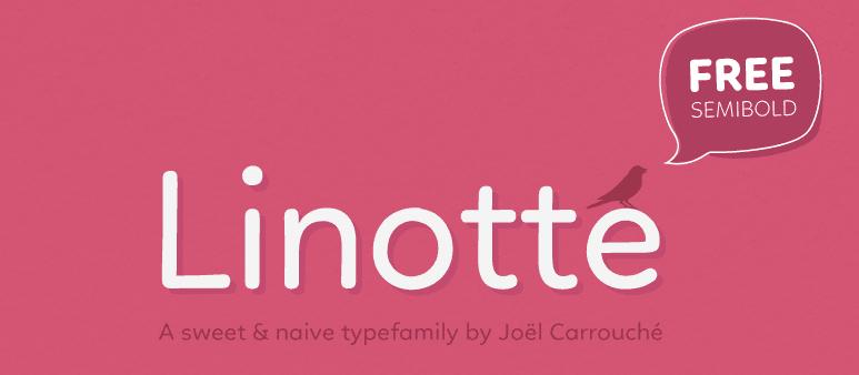 Screenshot of the Linotte header.