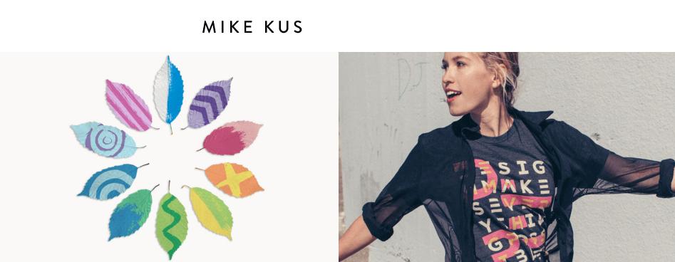 A screenshot of Mike Kus' homepage.