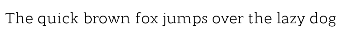 Example of the Modum font.
