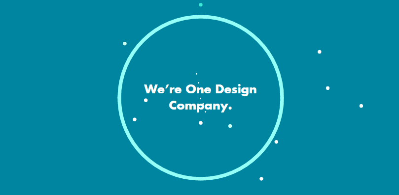 A screenshot of One Design Company's homepage.