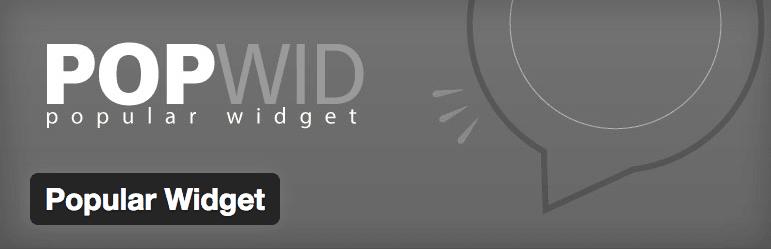 Popular Widget plugin