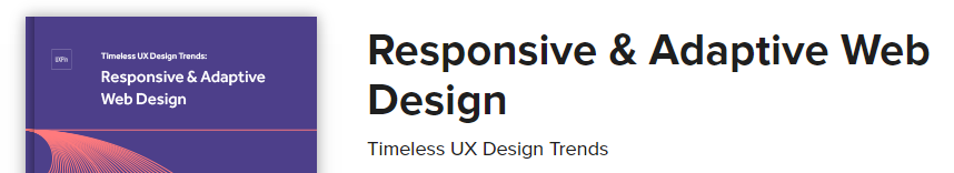 A screenshot of Responsive & Adaptive Web Design's homepage.