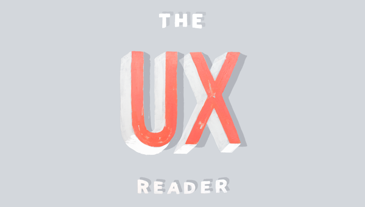 A screenshot of The UX Reader's homepage.