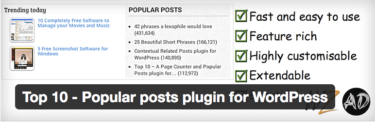 Top 10 Popular Posts plugin