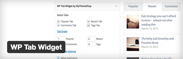 WP Tab Widget plugin