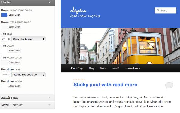 Styles WordPress Plugin