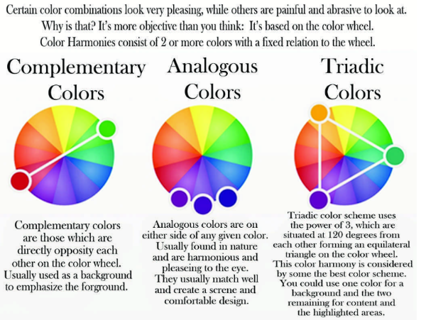 Color Wheel UI Design Colors