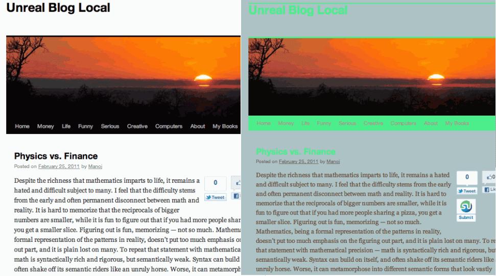 Theme Tweaker wordpress plugin