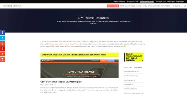 Divi Theme Examples Divi Theme Resources