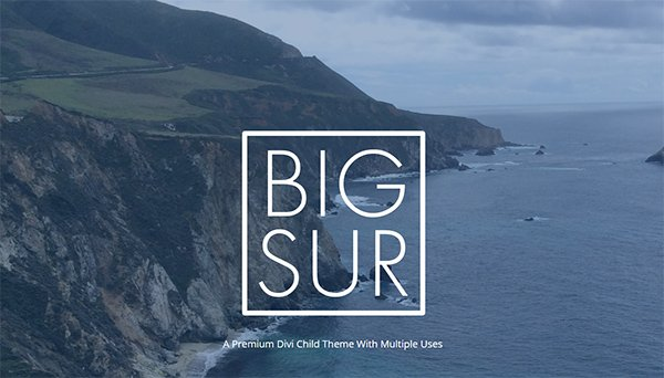 Premium Divi Child Themes Big Sur