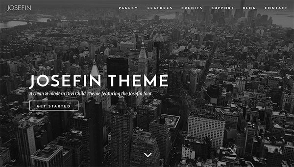 Premium Divi Child Themes Josefin