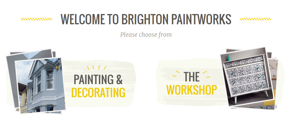 A screenshot of Brighton Paintwork's homepage.