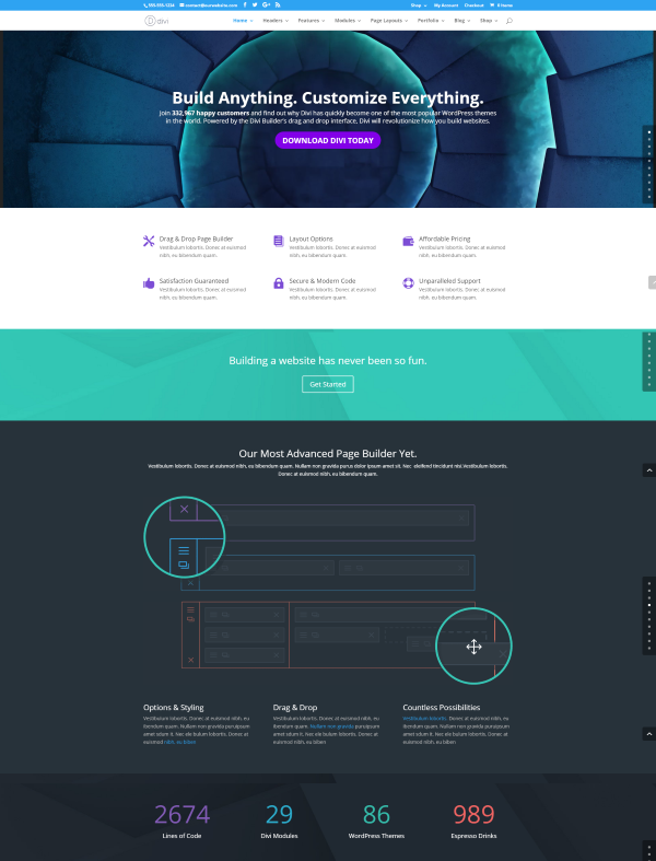 15 best seo friendly wordpress themes for highly for Elegant themes divi review